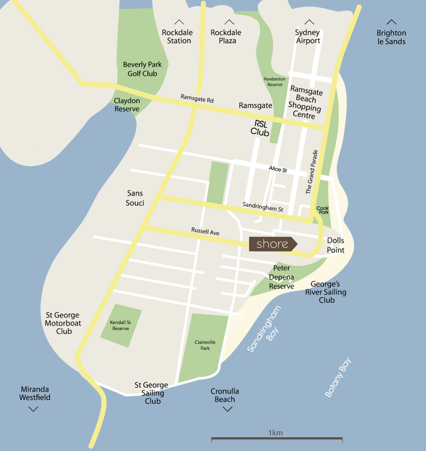 Map of Shore location